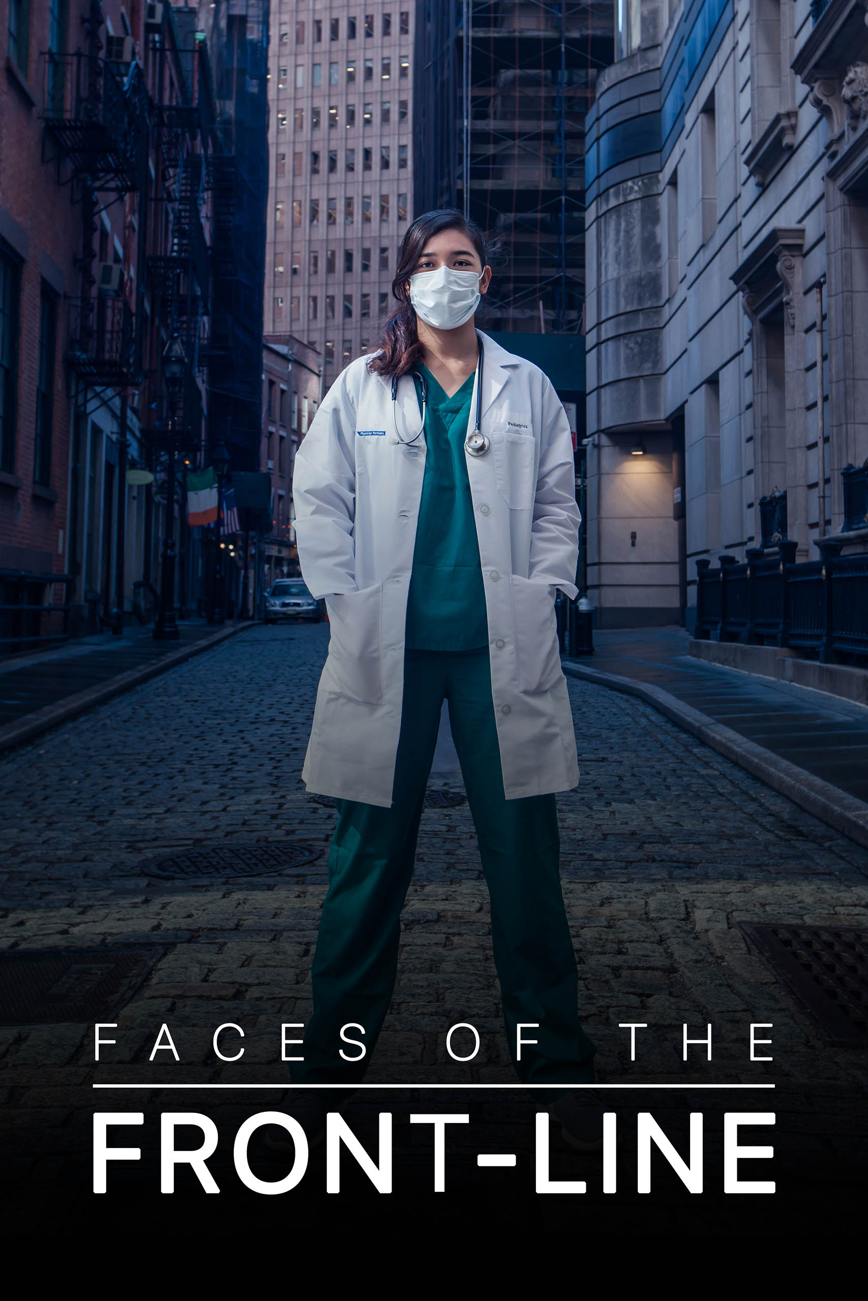Faces of the Front-Line, a portrait series of New York City's front-line workers during the COVID-19 pandemic lockdown.